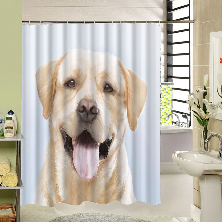 Cute Animal Shower Curtain High Quality Thicker Polyester Waterproof Mildewproof Bath Curtains SL