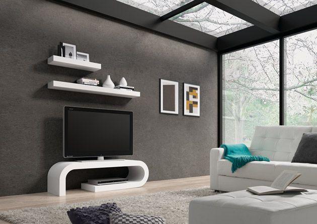 Mesas de TV en madera SARA. Decoración Beltrán, tu tienda online en mesas de Televisión de madera. www.decoracionbeltran.com