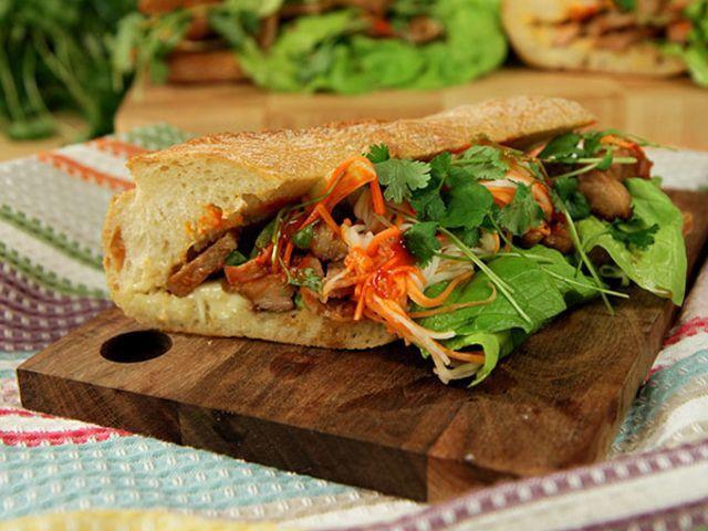 Vietnamesisk food truck-macka (kock Tommy Myllymäki)