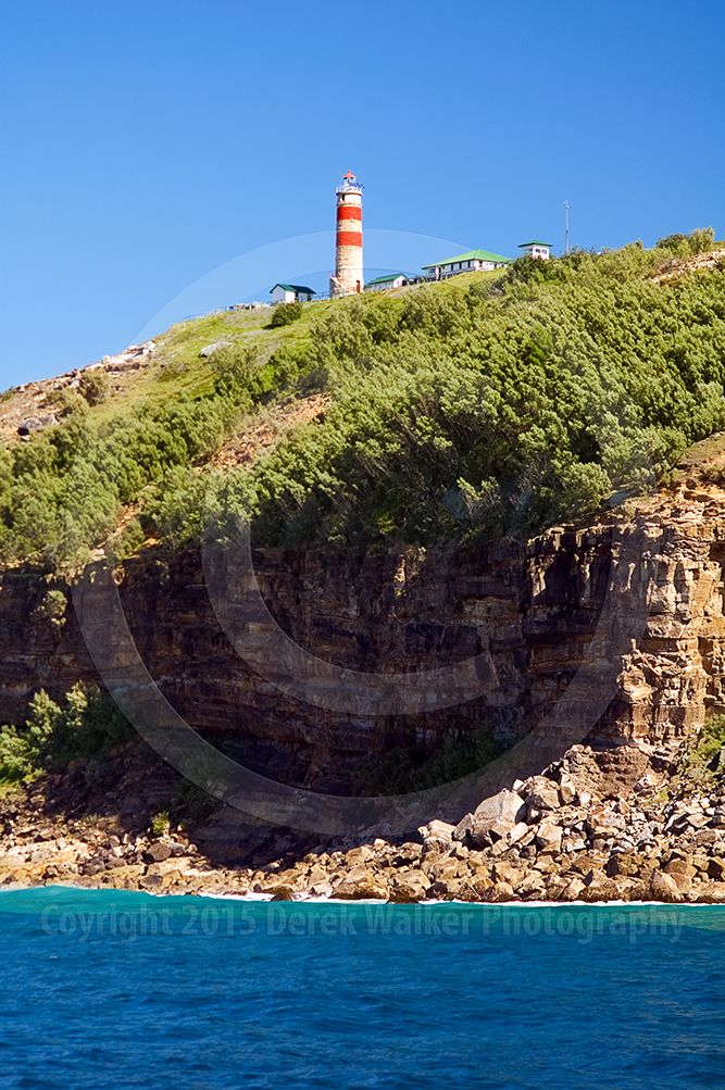 The Cape Moreton lighthouse on Moreton Island in Queensland, Australia, photographed from the Eye Spy of Brisbane Whale Watching. For image licensing enquiries, please feel welcome to contact me at derekwalker73@bigpond.com  Cheers :)