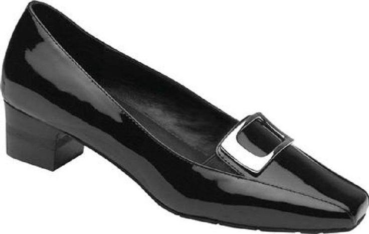 $179 NEW Drew Shoes AMANDA Heels Orthotic Diabetic Womens Black 7 W Wide Loafers #Drew #PumpsClassics