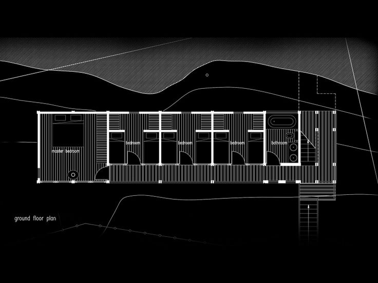 Conceptual design (unrealised) by Charles van Breda Architects for a house in Sedgefield, South Africa