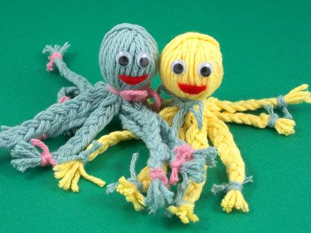 Click to enlarge image: Yarn octopus buddies