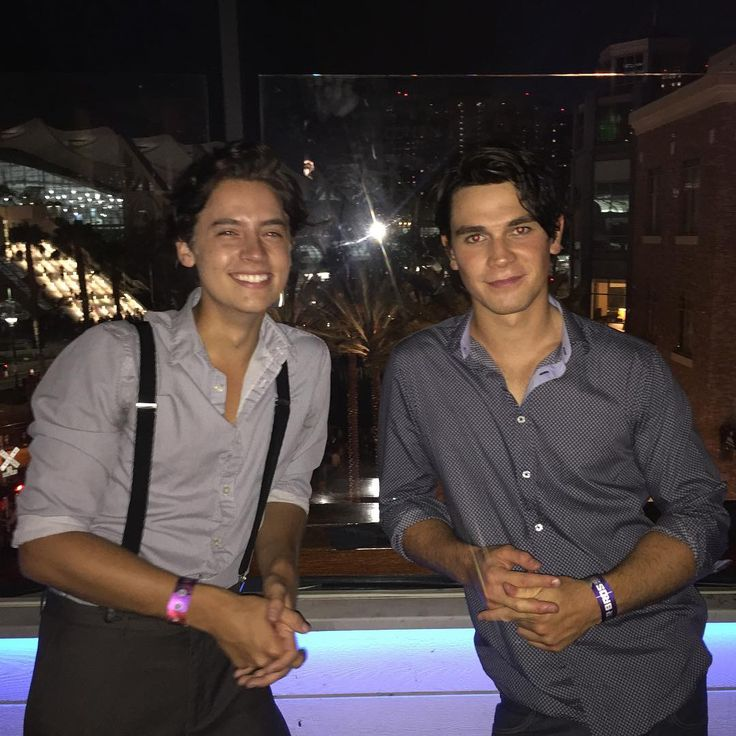 KJA + Cole Sprouse - - - Seems like quite the bromance here.