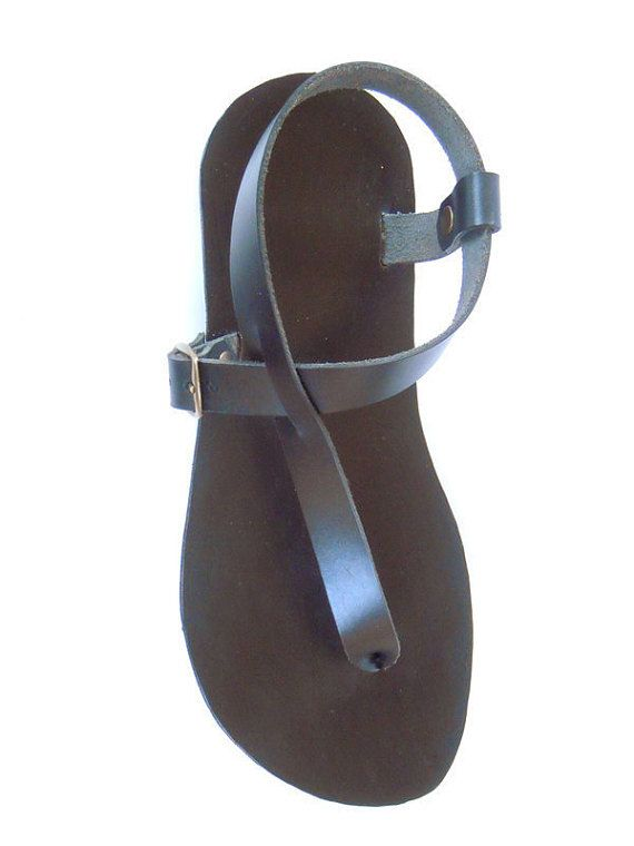 Ojotas sandalias artesanales de cuero hombre y mujer por LeatherD