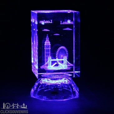 Laser Art Crystal with Colour Changing Lights