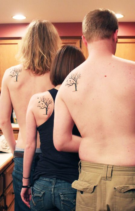 Family Tree Tattoo: The tree is meant to signify our roots, and
