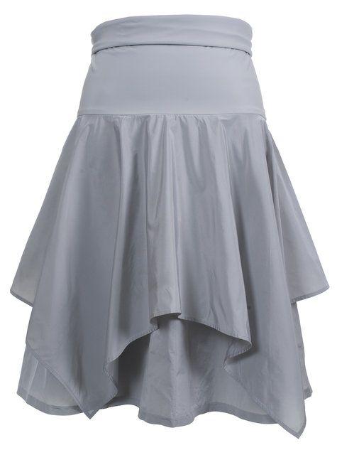 Burda style taffeta handkerchief skirt