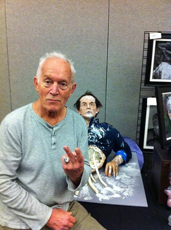 """Not bad for a human."" Life-size silicone model of Bishop (played by actor Lance Henriksen) from Aliens by Neil Goldsmith"