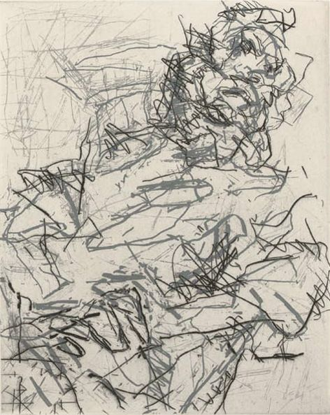 Frank Auerbach (British, b.1931) Ruth I, 1994 Etching / Engraving, printed in gray and black with plate tone on wove paper 10 х 8.1 in. (25.4 x 20.57 cm.)