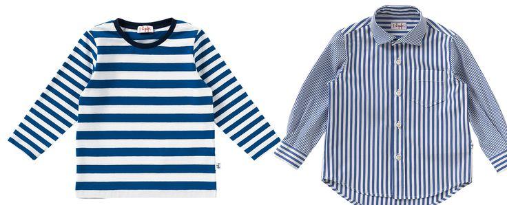 Moda Bimbi: a righe, a scacchi, con giochi geometrici, il bianco ed il blu vengono accostati da Il Gufo con gusto ed eleganza.http://www.sfilate.it/222270/largo-navy-style-per-primavera-estate-2014-de-gufo