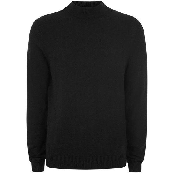 TOPMAN Black Cashmere Turtle Neck Jumper (150 BRL) ❤ liked on Polyvore featuring men's fashion, men's clothing, men's sweaters, black, mens cashmere turtleneck sweaters, mens cashmere sweaters, mens slim fit cashmere sweaters, mens turtleneck sweater and mens slim fit sweaters