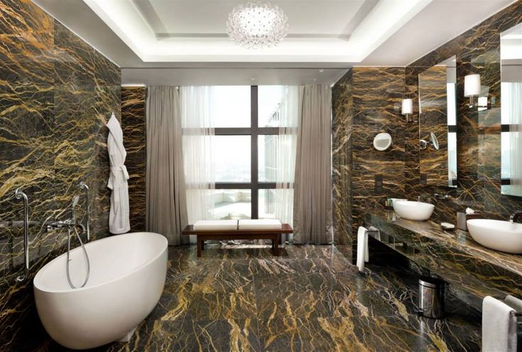 Hilton Hotel Kiev, Ukraine. #hotel #restroom #marble #relaxing #bath #lighting #design