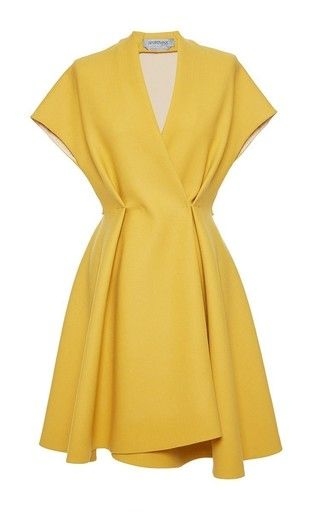 This **Sportmax** dress features a v neck, cap sleeves, a nipped waist and a mini length silhouette.