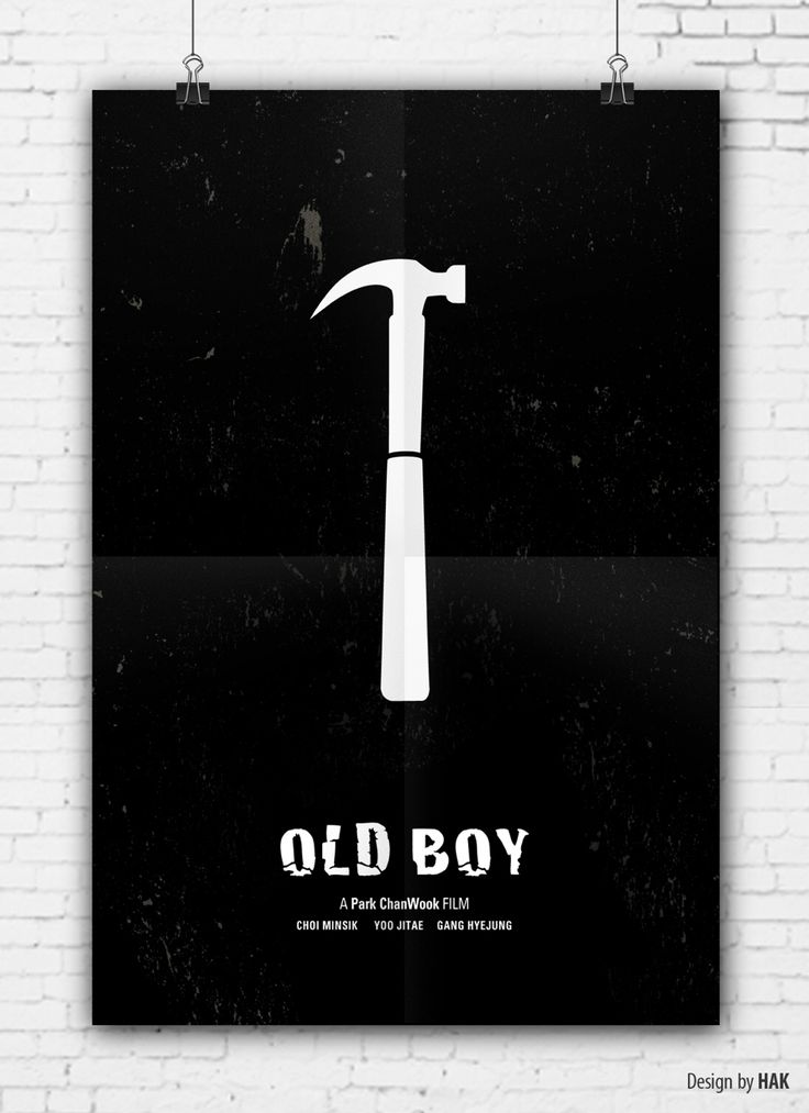 OLD BOY : 올드보이(2003)  감독 박찬욱 / 출연 최민식, 유지태, 강혜정 korea movie poster/minimalism