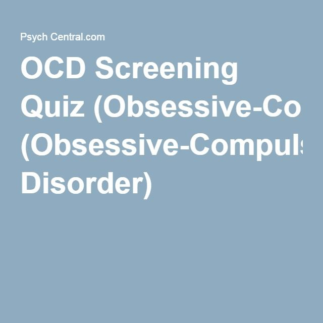 how to know if you have ocd quiz