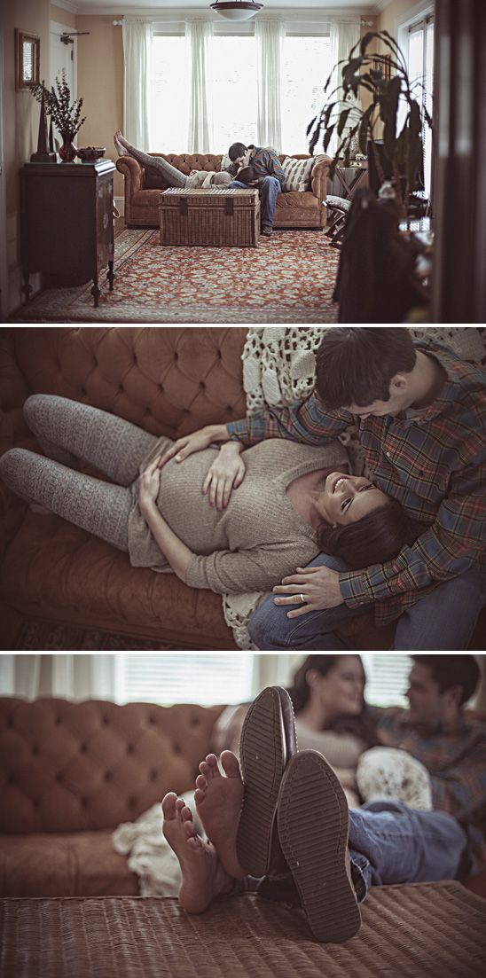 Sweet couples home maternity session