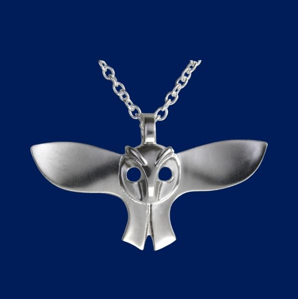 Owl, pendant, sterling silver. http://en.taigakoru.mycashflow.fi/product/527/owl-pendant