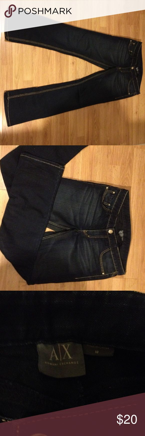 Armani Exchange boot cut jeans Dark blue Armani exchange with elaborate pockets A/X Armani Exchange Jeans Boot Cut