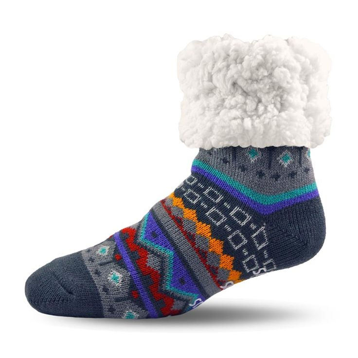 Pudus Nordic Grey Socks with an Extra Fluffy Sherpa Lining  #nordicdesign #socks #wintersocks #fashion