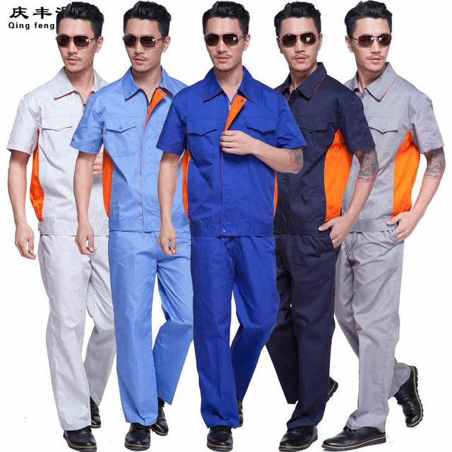 engineer work wear Factory Labor Clothing Worker Trousers and coat summer worker uniform