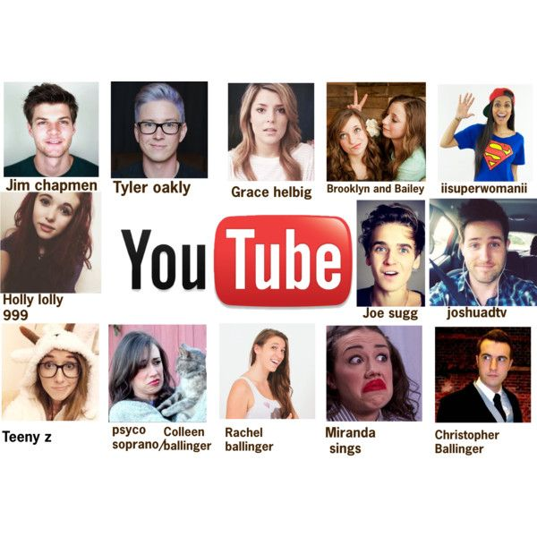 Youtubers by majellaj on Polyvore featuring polyvore fashion style