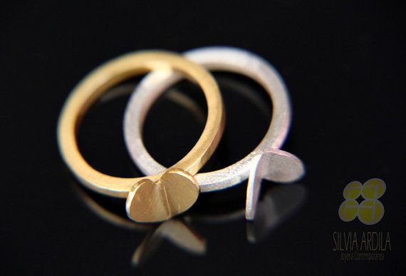 """Are you looking for an original, romantic one of a kind jewelry to propose or say I do! How about our lovely set of 2  """"INLOVE"""" rings Handmade by Silvia Ardila, buy online at our etsy shop www.silviaardila.co"""