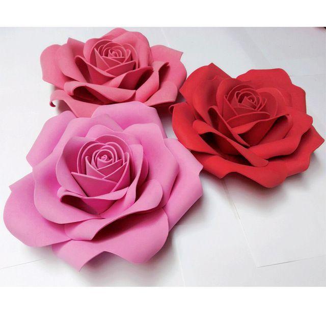 Kwiaty Z Papieru Szablon Szukaj W Google Guller