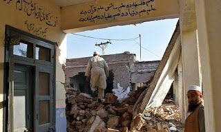 The powerful non-nuclear bomb dubbed mother of all bombs (MOAB) which was dropped by the US on an area in Afghanistan on Thursday also left impact on this side of the border damaging buildings in Kurram Agency locals said.  Wide cracks appeared in several houses a mosque and an Imambargah at Malana village in the foothills of Speen Ghar also known as White Mountain.  The snow-covered White Mountain serves as a natural barrier between the Afghan province of Nangarhar and the Kurram tribal…