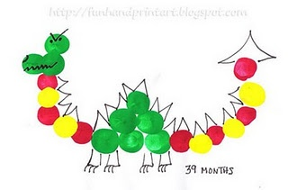 Thumbprint Dragon - Art activity for Chinese New Year