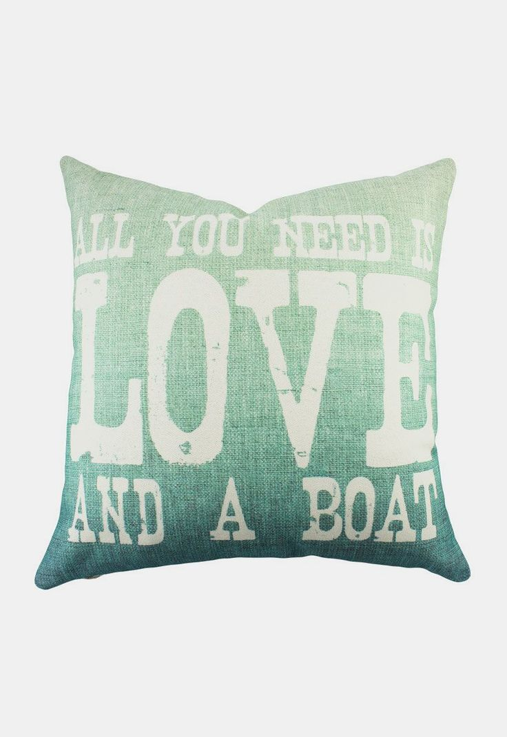 Love and a Boat Pillow                                                                                                                                                                                 More