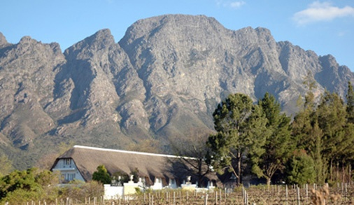 Franschhoek South Africa- wine country cradled in a valley surrounded by mountains, ahhh.