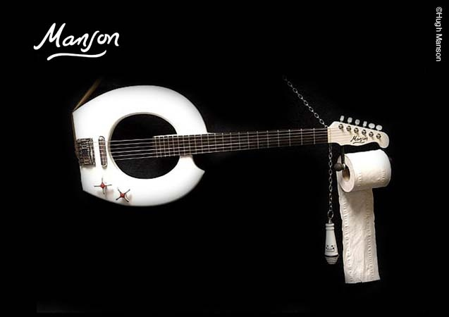 Hugh Manson / Toilet Seat Guitar | Conspire to Inspire | Pinterest |  Upstairs bathrooms and Toilet