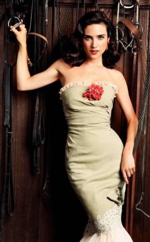Black Irish American Jennifer Connelly in Western style photoshoot