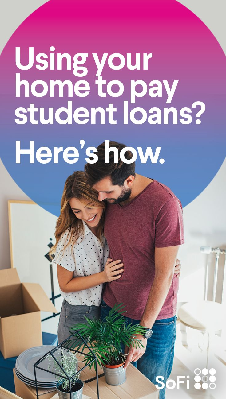 When you refinance your mortgage you can use home equity to pay off your student or education loans it s like having your cake and eating it too plus the