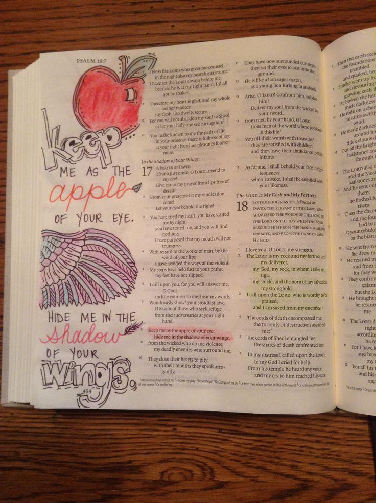 Bible Journaling: Psalm 17:8 @kgjones5 | Faith art Bible ...