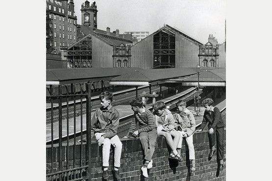 Trainspotters at Victoria Station in August 1964.