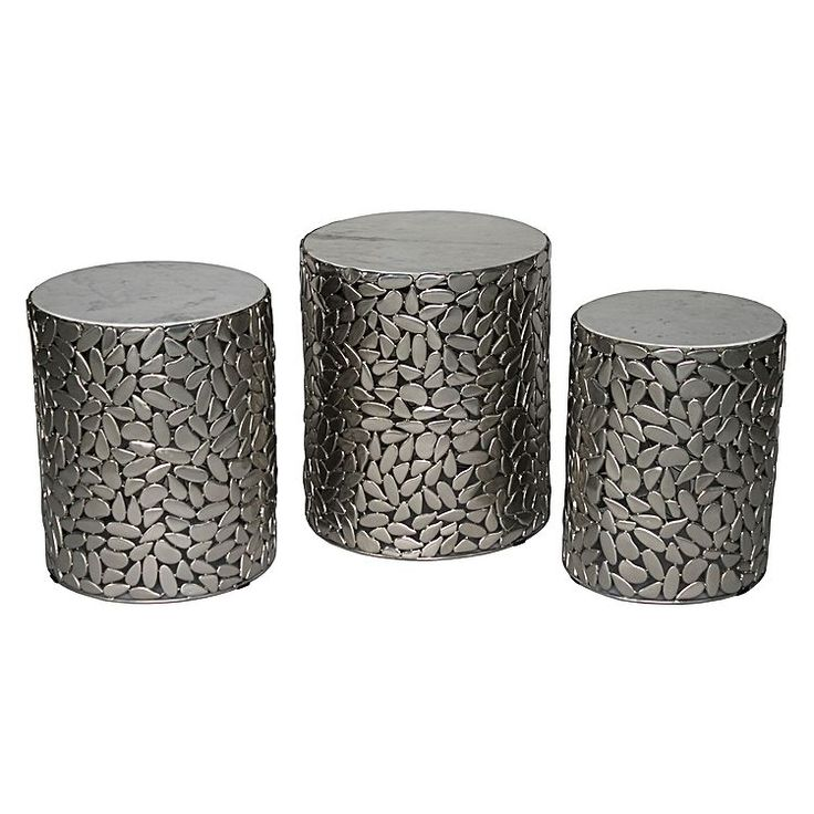 Complete your living room with the versatile and stylish Eros Drum Table (Set of 3) form Future Classics Furniture.