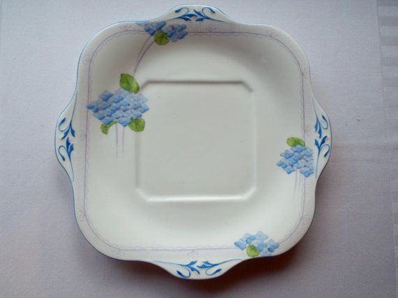 Vintage Sandwich Plate Or Large Cake Plate. Grafton China Art