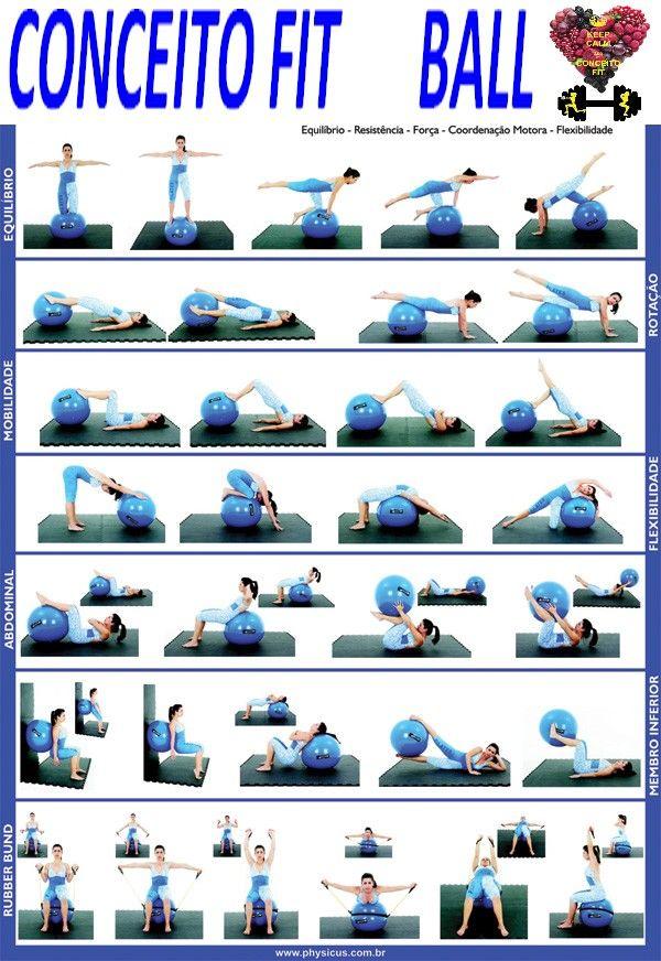 Souvent Les 12 meilleures images du tableau Pilates com bola sur Pinterest  AZ23