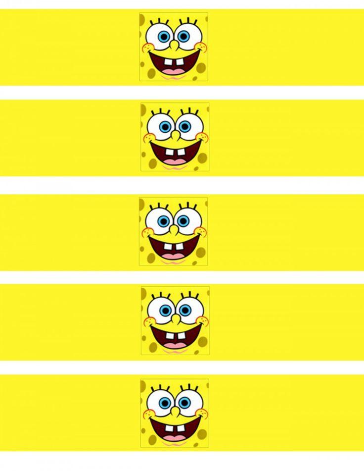 SpongeBob SquarePants water bottle wrappers