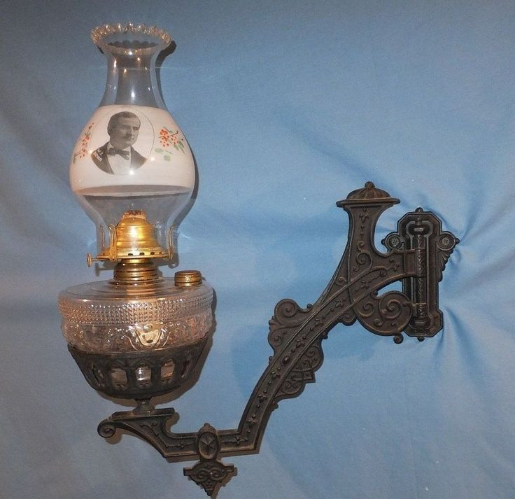 1890's William J. Bryan Political Advertising President Wall Bracket Oil Lamp