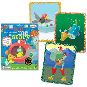 Carte e giochi da tavolo per inventare fiabe, favole e racconti - Tell Me a Story - Lil Robot's Mission - eeBoo