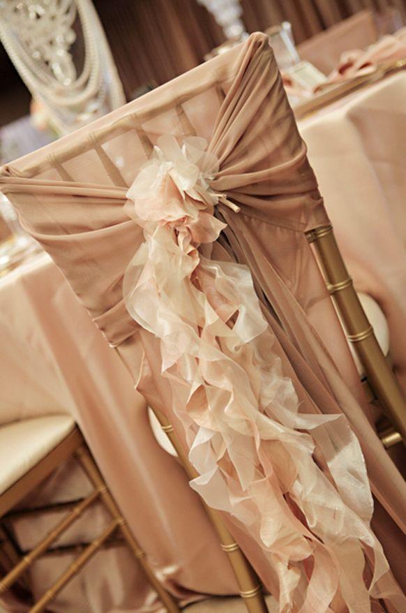 glamorous vintage wedding  reception  chair decorations