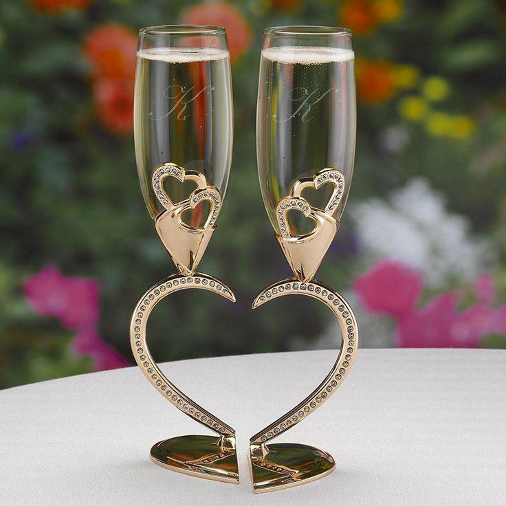 Copas para bodas románticas, con cristales, hermosas y originales, ideas para el brindis de boda #bodas2017 #bodasconestilo #bodasconencanto #bodas #ondinecollection #copasconestilo