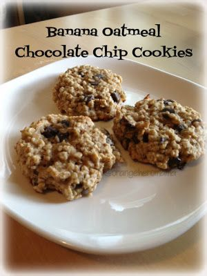 #recipe, Banana Oatmeal Chocolate Chip Cookies! TASTY!