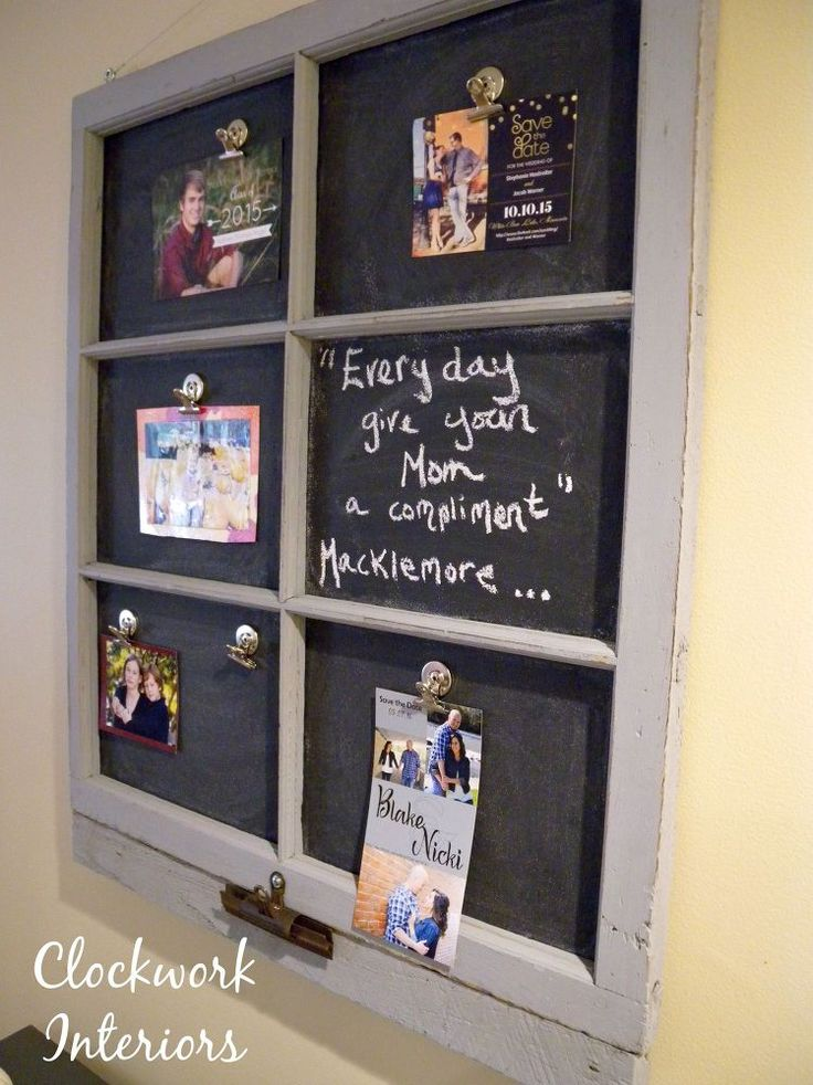 Transforming an Old Window Frame Into a Magnetic Chalkboard