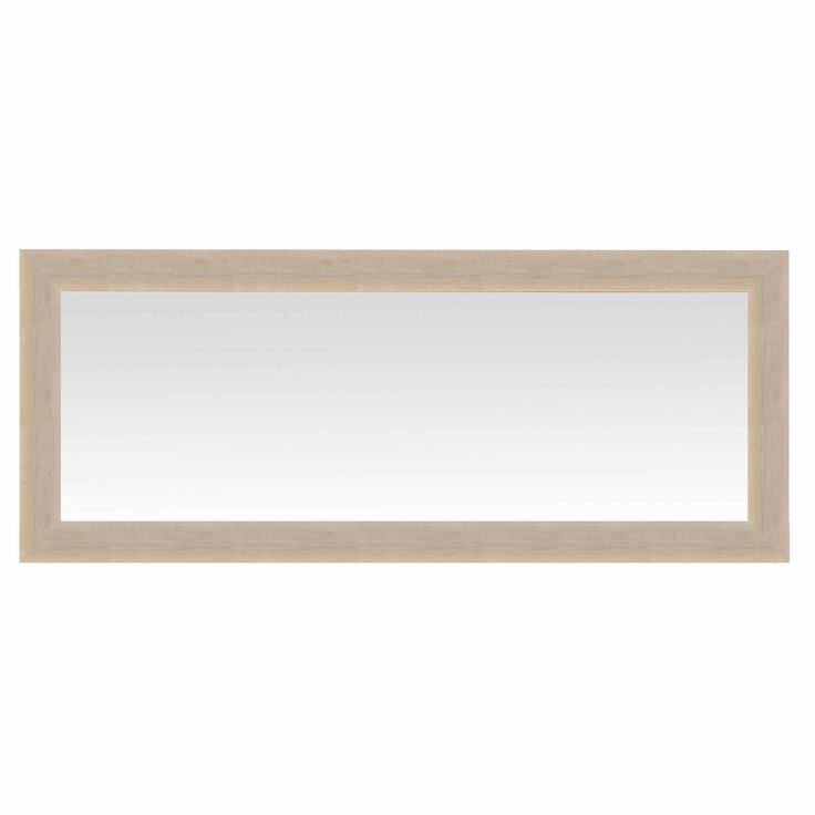Miroir mural rectangulaire en bois plat 68x168cm Bombe Emde port offert