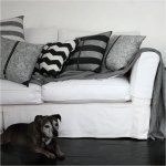 Chevron Charcoal and White Cushion with Zipper | Urban Couture - Designer Homewares & Furniture Online