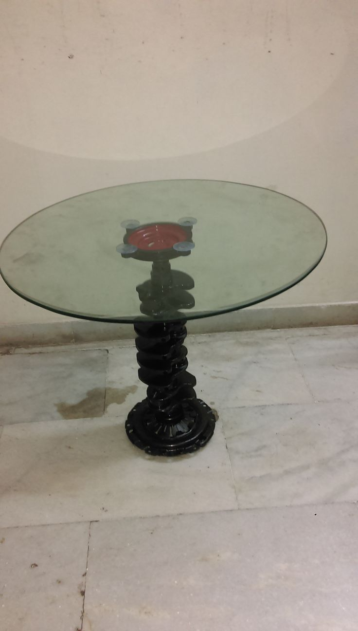 Coffee table from Engine Crank Shaft
